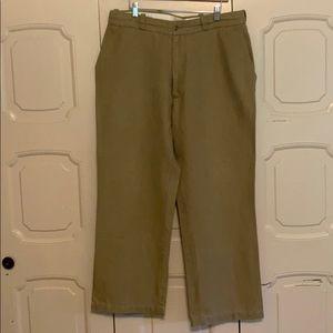 36x30 Tan Cubevera Linen Pants